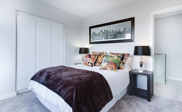 moderní minimalistická ložnice