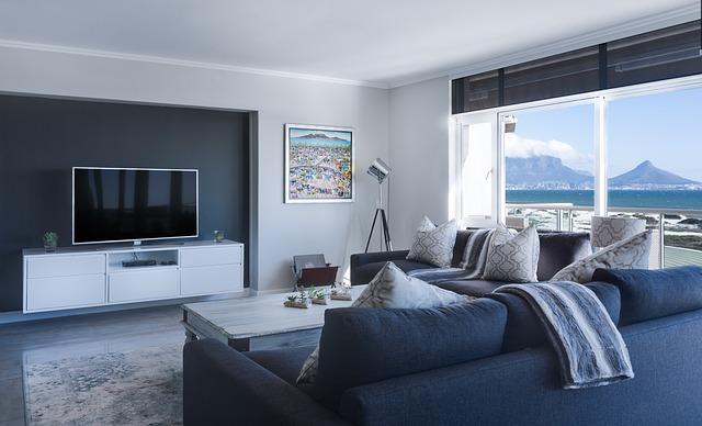 moderní minimalistický obývací pokoj