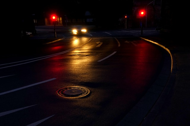 červená na semaforech