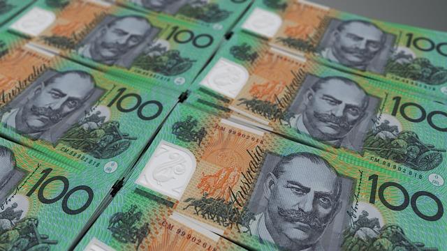 australské bankovky